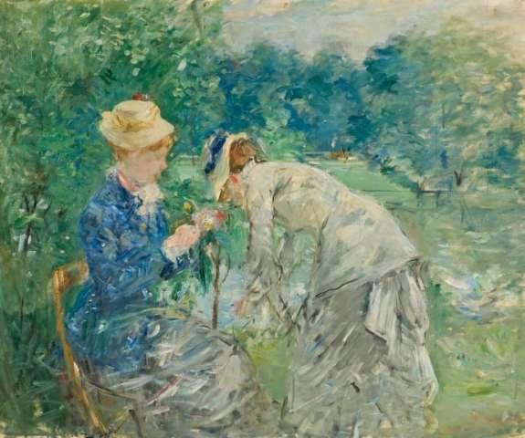 Berthe Morisot, dans le Bois de Boulogne, avant 1880. Photo: Erik Cornelius / Nationalmuseum