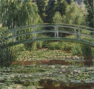 Claude Monet, The Japanese Footbridge and the Water Lily Pool, Giverny (1899) (c) Philadelphia Museum of Art