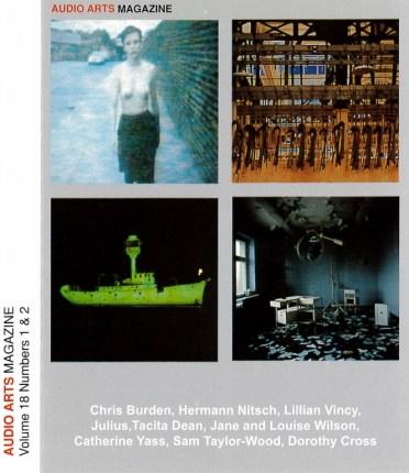 tate audio arts-volume-18-inlay_0