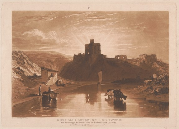 J. M. W. Turner, Norham Castle on the Tweed, 1816, etching and mezzotint, first published state, Yale Center for British Art, Paul Mellon Collection