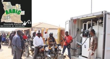 Venda de combustíveis em Angola a regressar lentamente à normalidade