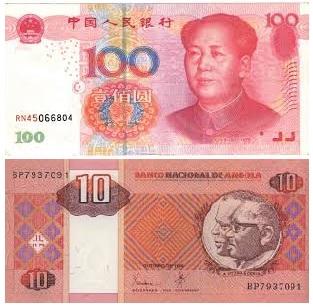 Moeda angolana continua a bater mínimos históricos face o euro e dólar