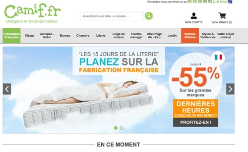 Code promo camif r duction soldes 2018 club for Reduc cdiscount 2015