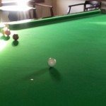 snooker balls lined up
