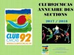 Club92Cmcas Annuaire - Janvier 2017