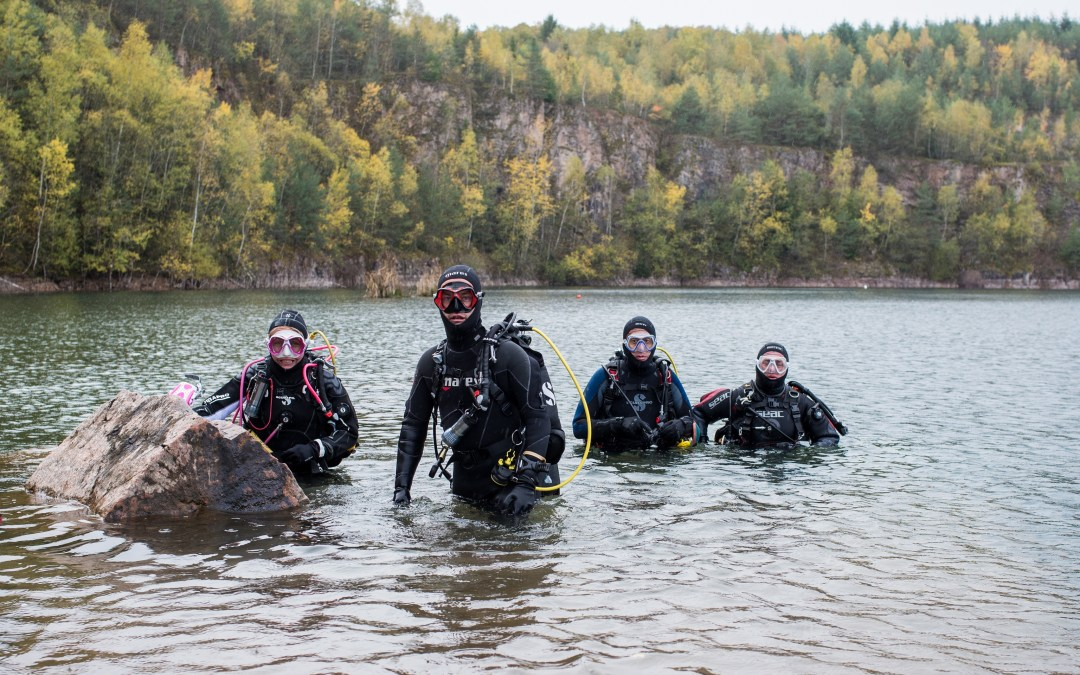 Une carrière à découvrir pour les plongeurs de la section, un week-end génial !