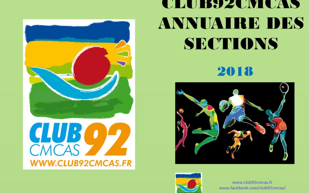 Annuaire des sections 2018