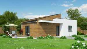 Casa ieftina din lemn MODERN ACCES 83 EcoKit Romania  ECOKIT SRL
