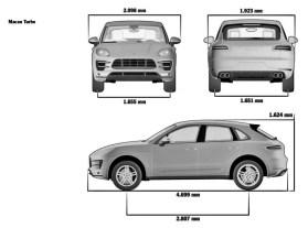 Porsche Macan Dimensioni lunghezza