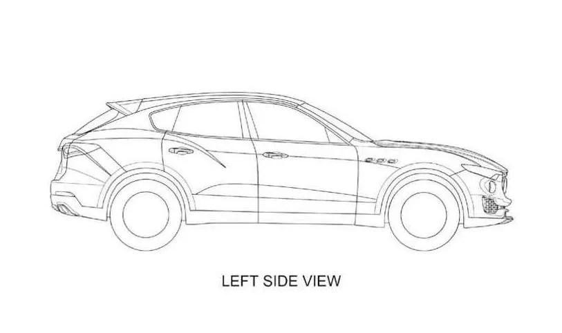 Maserati Levante si mostra nei disegni dei brevetti