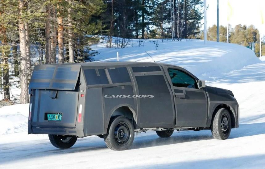 Fiat Mobi Pickup nuove foto spia