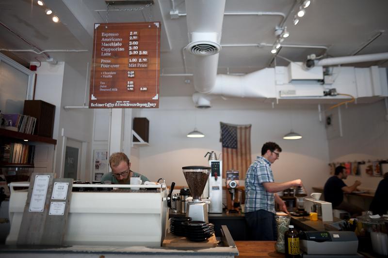 Seattle coffee bars Analog Kaladi Bedlam and Milstead