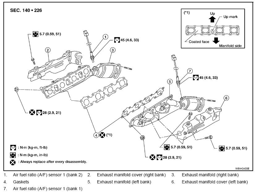 Nissan Titan Bank 1 Sensor 1