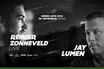 Reinier Zonneveld i Jay Lumen na Green Love žurci 30. novembra