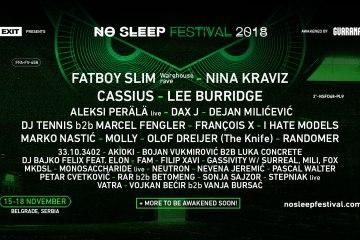 Najavljena nova imena koja slušamo na No Sleep Festivalu!