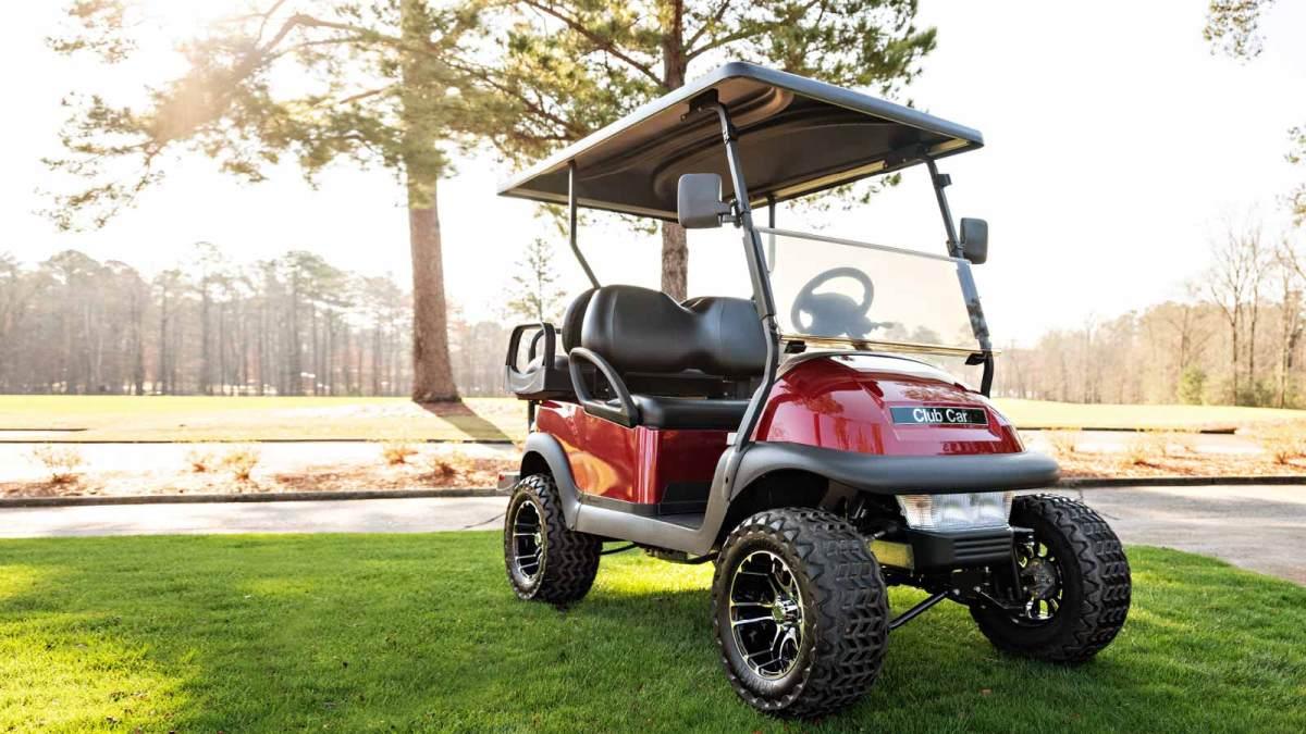 cc v4l Villager 4 passenger lifted golf cart metallic red 1600x900 1 - V4L - Villager 4 Passenger Lifted