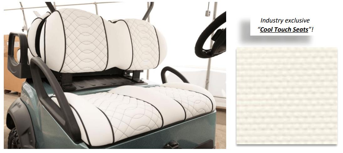 cc sea breeze cool touch seats - Club Car Onward - Sea Breeze - Special Edition
