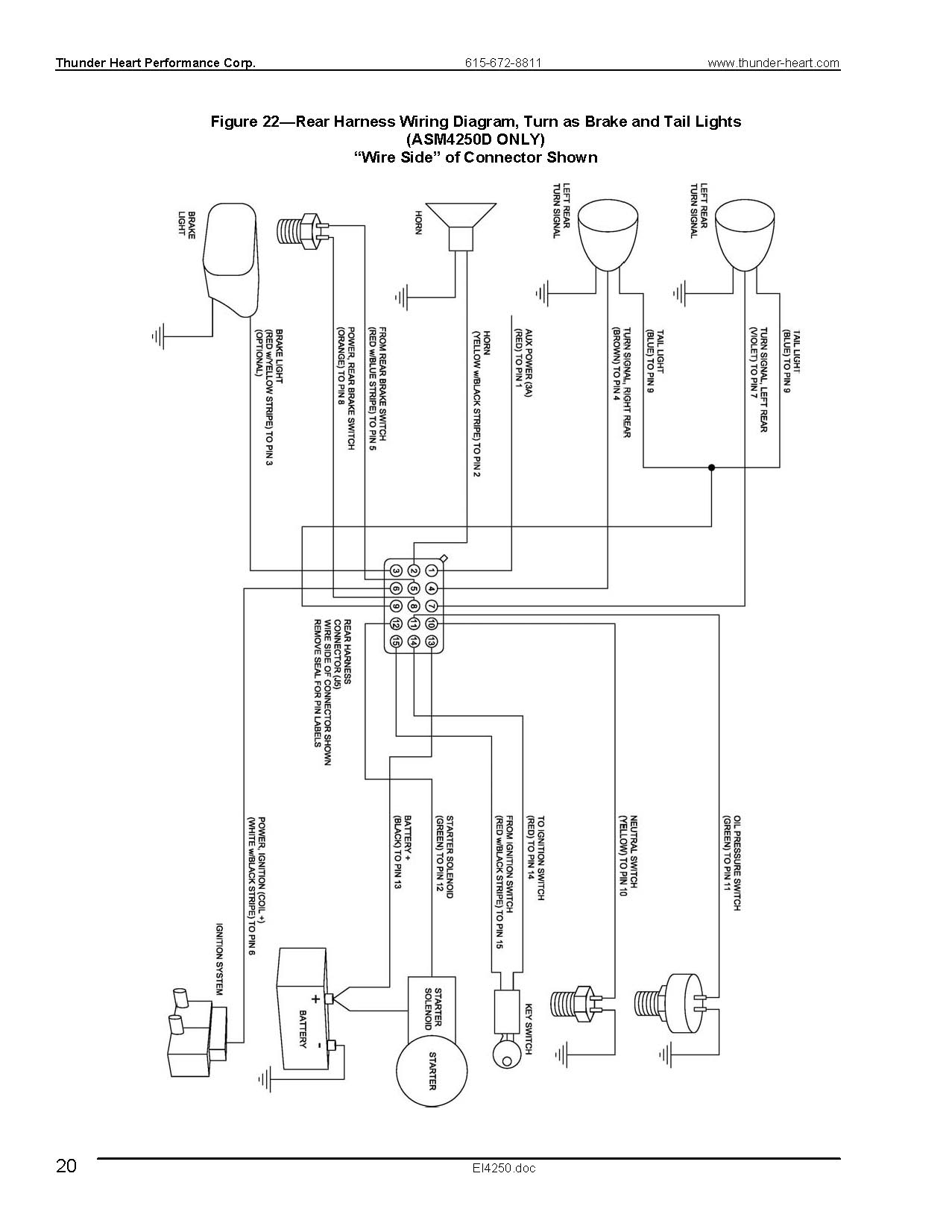 thunderheart wiring harness diagram