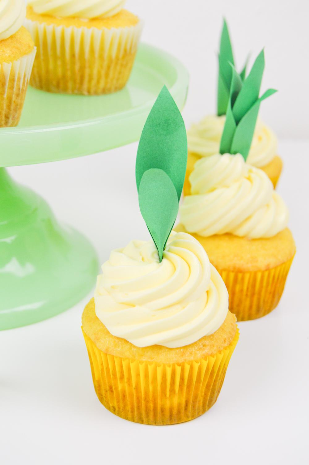 Pineapple Cupcake Recipe Diy Pineapple Cupcake Toppers