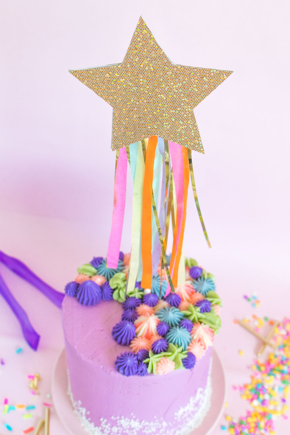 DIY Shooting Star Cake Topper   Club Crafted