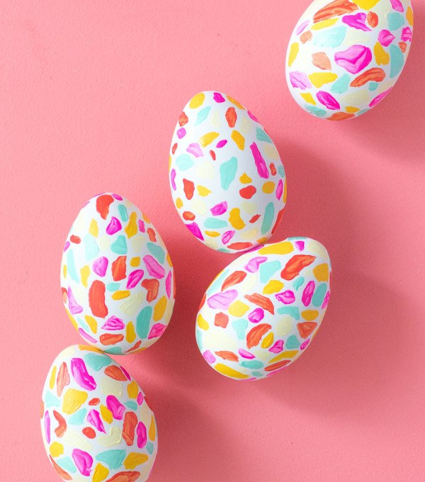DIY Terrazzo Easter Eggs   Club Crafted