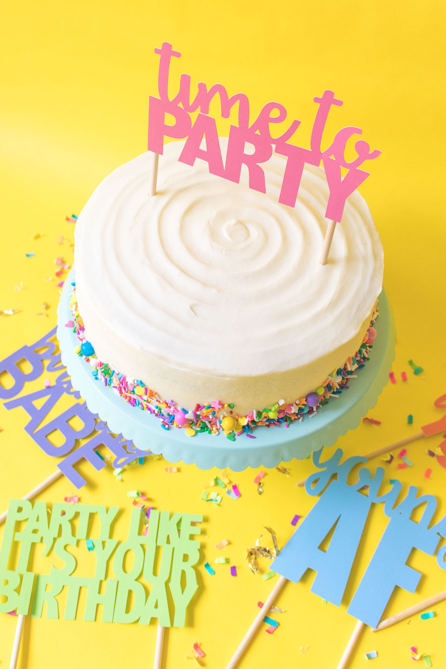Printable Cake Toppers For Birthdays Free Svg Templates