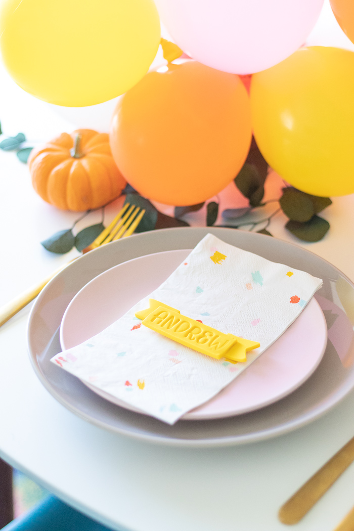 DIY Clay Ribbon Place Cards for Thanksgiving | Club Crafted