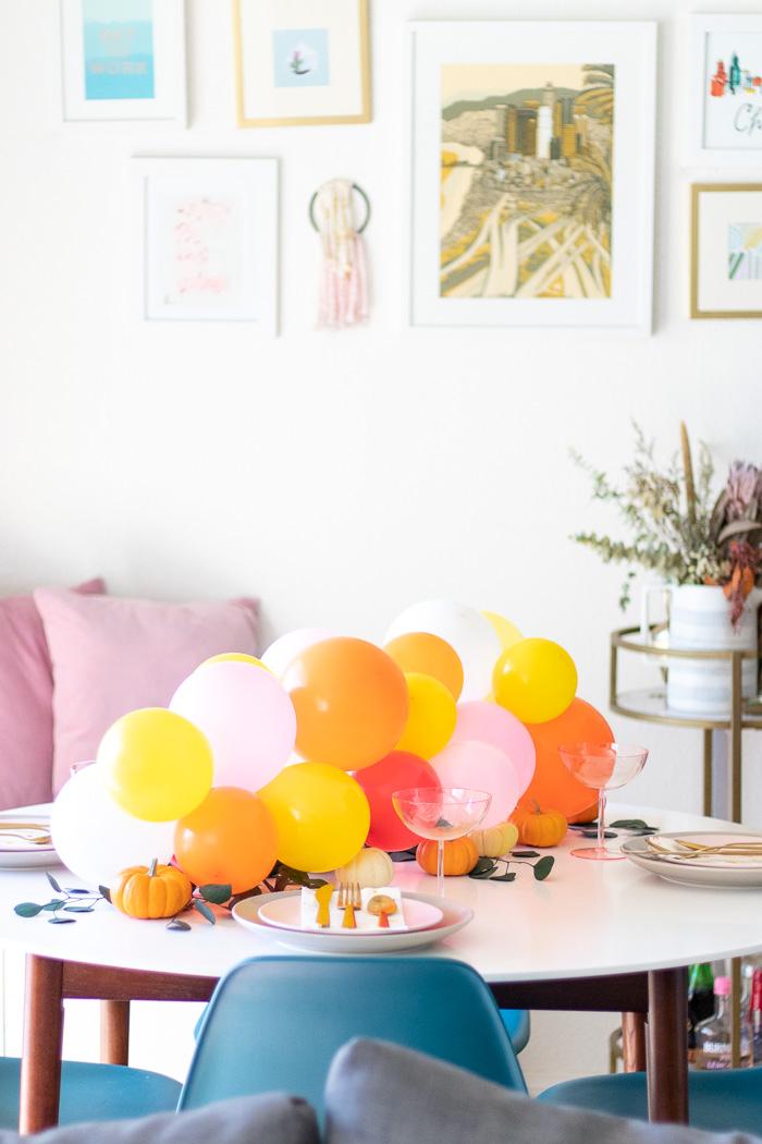 DIY Pumpkin & Balloon Centerpiece for Entertaining | Club Crafted