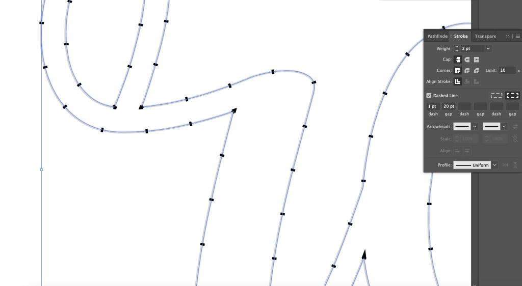 stroke menu in Adobe Illustrator