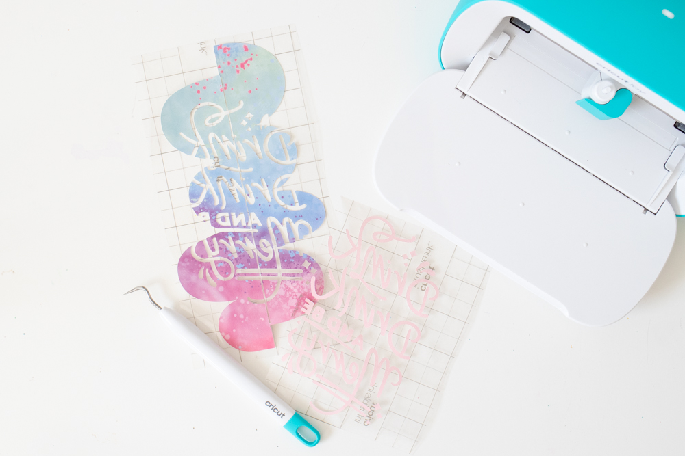 weeding designs from Cricut Joy Infusible Ink