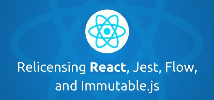 Nuevo licenciamiento en React, Jest, Flow e Immutable.js