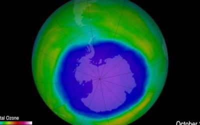 Buraco na camada de ozônio é o menor desde 1988
