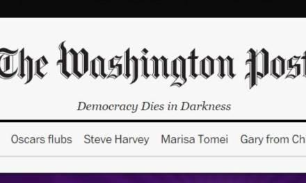 Washington Post Ridicularizado por Manchete sobre Terrorista.