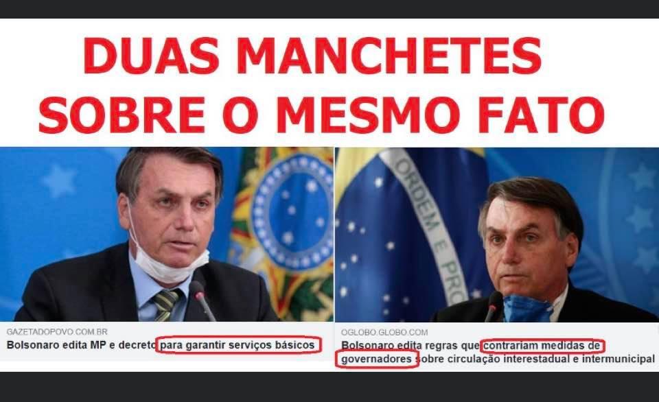Guerra da Mídia contra Bolsonaro em meio ao Coronavírus