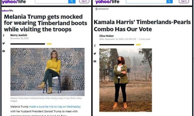 Bota da Kamala Harris, OK; Bota da Melania trump, não OK