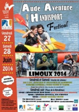 Affiche Festival Aude Aventure Handisport 2014