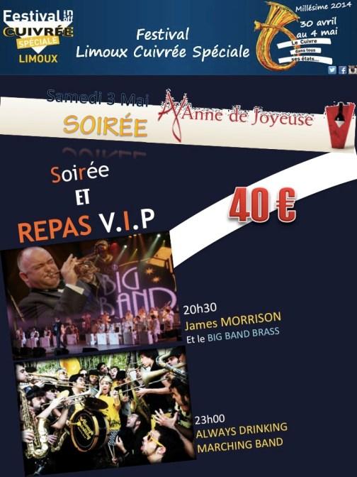 Proposition soirée repas concert samedi