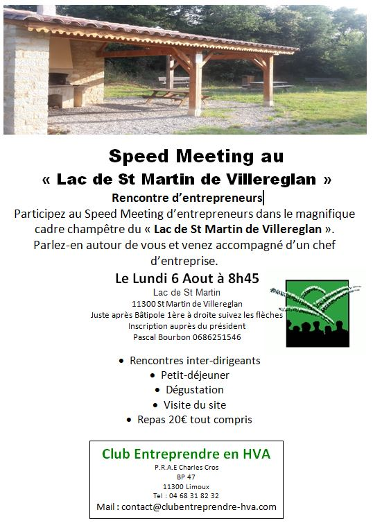 speed meeting entrepreneurs du limouxin