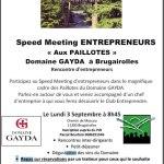 03/09/2018 : Speed Meeting à Brugairolles