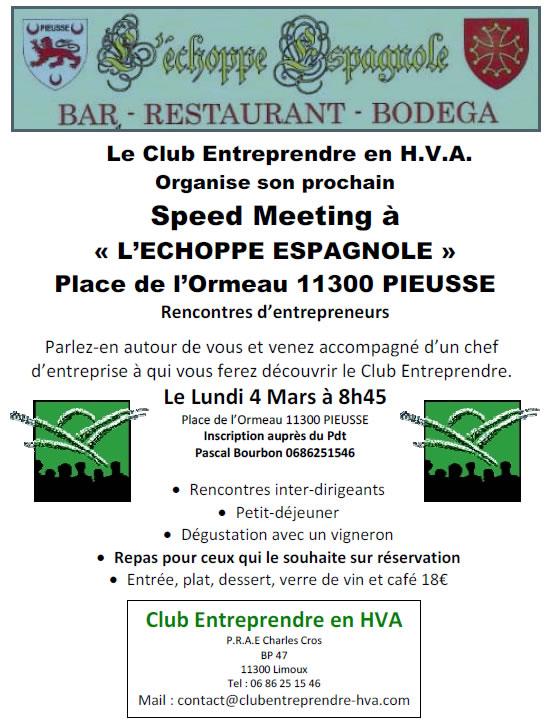 speed meeting à Pieusse