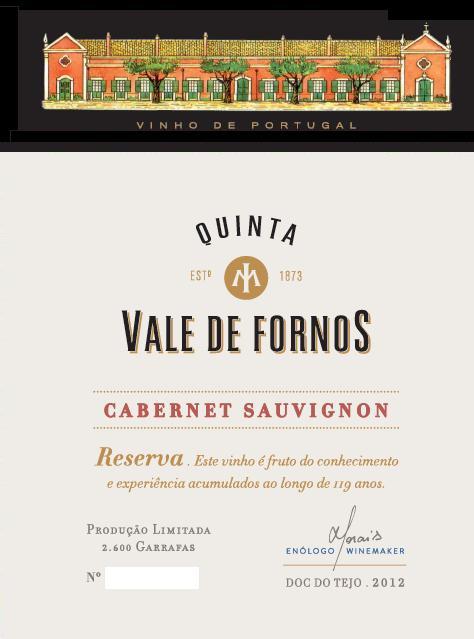 VALE DE FORNOS CABERNET SAUVIGNON TINTO 2012 - Medalha de Ouro