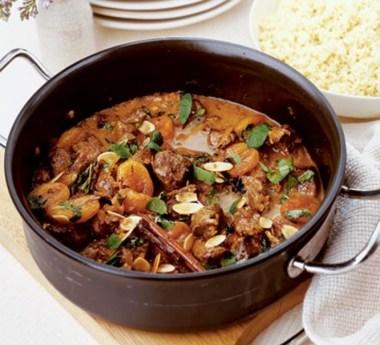 Cordeiro marroquino picante e couscous
