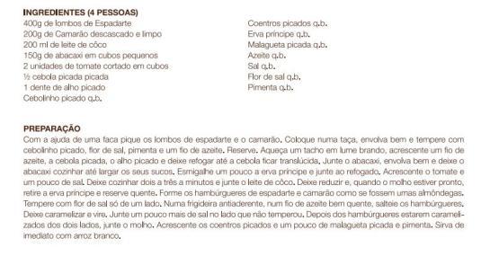 receita Hambúrguer de Espadarte e Camarão