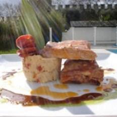 Entrecosto de Porco Marinado numa Vinha d'Alhos Azeite e Massa de Pimentão da Horta