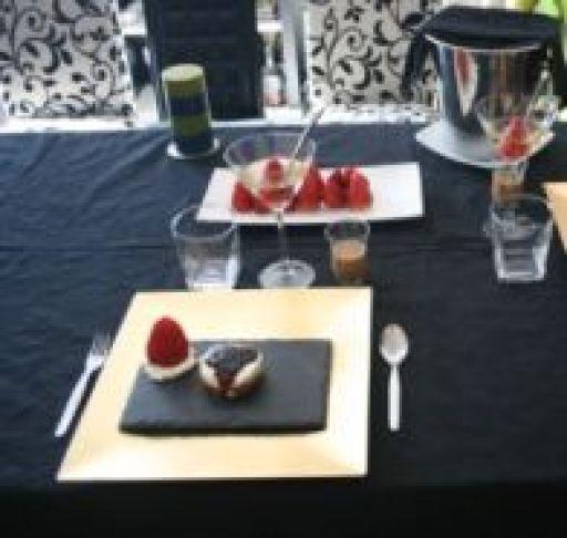 Cheesecake de São Valentim com areado afrodisíaco
