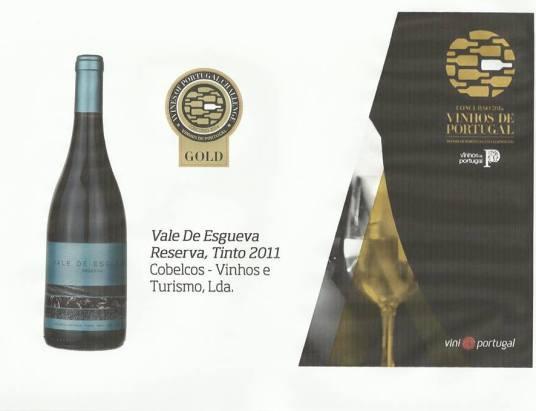 Medalha de Ouro no 'Concurso de Vinhos de Portugal 2014