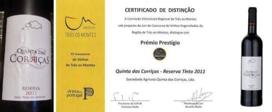 Prémio Prestígio Quinta das Carriças Tinto 2011