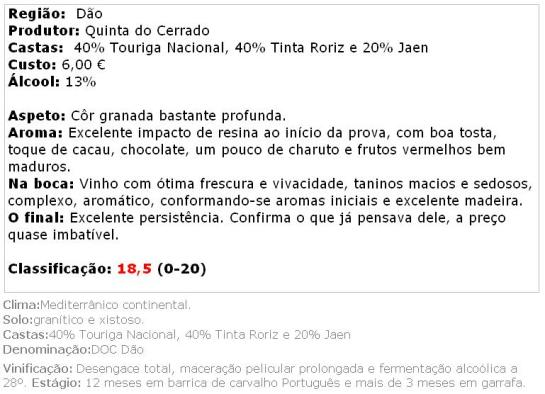apreciacao 1_Quinta do Cerrado Reserva 2008 - web