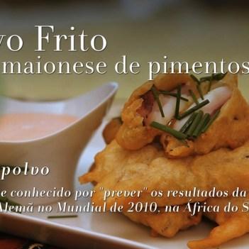 POLVO FRITO (COM MAIONESE DE PIMENTOS)