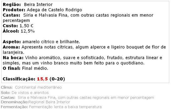apreciacao Frei Bernardo Branco
